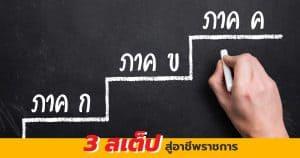 สอบ กพ 3 ขั้นตอน สู่ อาชีพ ราชการ